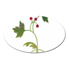 Element Tag Green Nature Oval Magnet