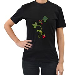 Element Tag Green Nature Women s T Shirt (black) (two Sided)