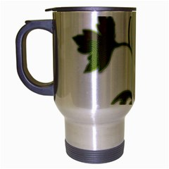 Element Tag Green Nature Travel Mug (silver Gray) by Nexatart