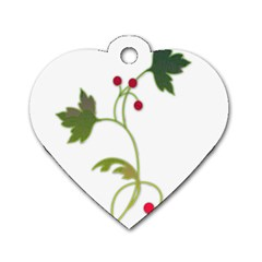 Element Tag Green Nature Dog Tag Heart (one Side)