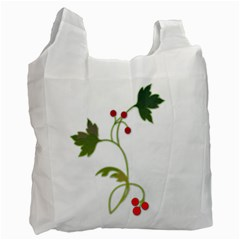 Element Tag Green Nature Recycle Bag (one Side) by Nexatart
