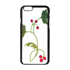 Element Tag Green Nature Apple Iphone 6/6s Black Enamel Case by Nexatart