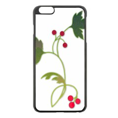 Element Tag Green Nature Apple Iphone 6 Plus/6s Plus Black Enamel Case by Nexatart