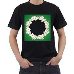 Photo Frame Love Holiday Men s T Shirt (black) (two Sided)