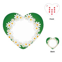 Photo Frame Love Holiday Playing Cards (heart)