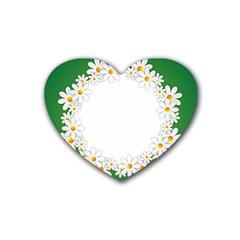 Photo Frame Love Holiday Rubber Coaster (heart)