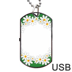 Photo Frame Love Holiday Dog Tag Usb Flash (two Sides)
