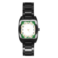 Photo Frame Love Holiday Stainless Steel Barrel Watch