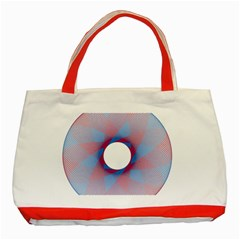 Spirograph Pattern Drawing Design Classic Tote Bag (red) by Nexatart