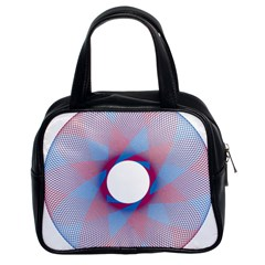 Spirograph Pattern Drawing Design Classic Handbags (2 Sides) by Nexatart