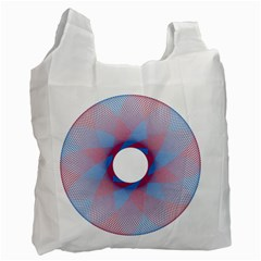 Spirograph Pattern Drawing Design Recycle Bag (two Side)  by Nexatart