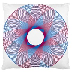 Spirograph Pattern Drawing Design Large Cushion Case (two Sides) by Nexatart