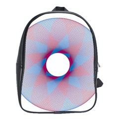 Spirograph Pattern Drawing Design School Bags (xl)  by Nexatart