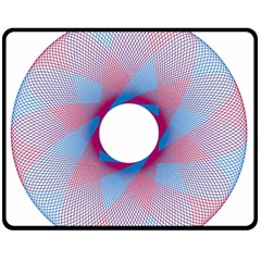 Spirograph Pattern Drawing Design Double Sided Fleece Blanket (medium)