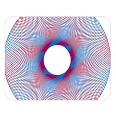 Spirograph Pattern Drawing Design Double Sided Flano Blanket (large)