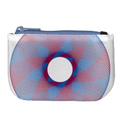 Spirograph Pattern Drawing Design Large Coin Purse by Nexatart