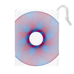 Spirograph Pattern Drawing Design Drawstring Pouches (extra Large)