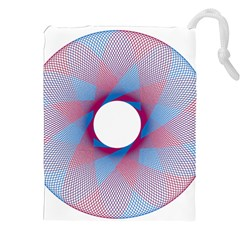 Spirograph Pattern Drawing Design Drawstring Pouches (xxl) by Nexatart