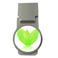 Leaves Green Nature Reflection Money Clips (round)