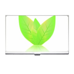 Leaves Green Nature Reflection Business Card Holders
