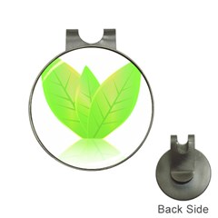 Leaves Green Nature Reflection Hat Clips With Golf Markers by Nexatart