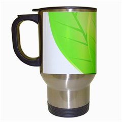 Leaves Green Nature Reflection Travel Mugs (white) by Nexatart