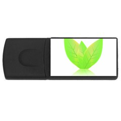 Leaves Green Nature Reflection Usb Flash Drive Rectangular (4 Gb)
