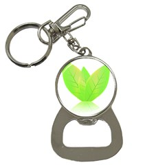 Leaves Green Nature Reflection Button Necklaces