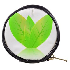Leaves Green Nature Reflection Mini Makeup Bags by Nexatart