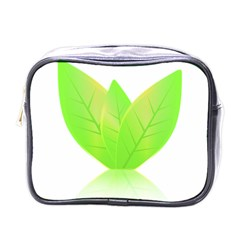 Leaves Green Nature Reflection Mini Toiletries Bags by Nexatart