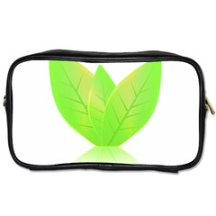 Leaves Green Nature Reflection Toiletries Bags by Nexatart