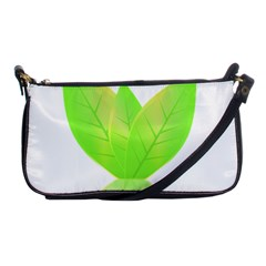 Leaves Green Nature Reflection Shoulder Clutch Bags by Nexatart