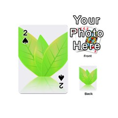 Leaves Green Nature Reflection Playing Cards 54 (mini)  by Nexatart