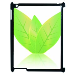 Leaves Green Nature Reflection Apple Ipad 2 Case (black) by Nexatart