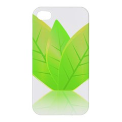 Leaves Green Nature Reflection Apple Iphone 4/4s Hardshell Case