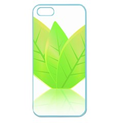 Leaves Green Nature Reflection Apple Seamless Iphone 5 Case (color) by Nexatart