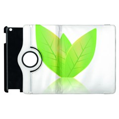 Leaves Green Nature Reflection Apple Ipad 2 Flip 360 Case