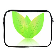 Leaves Green Nature Reflection Apple Ipad 2/3/4 Zipper Cases by Nexatart
