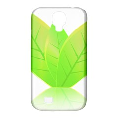 Leaves Green Nature Reflection Samsung Galaxy S4 Classic Hardshell Case (pc+silicone) by Nexatart
