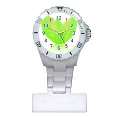 Leaves Green Nature Reflection Plastic Nurses Watch