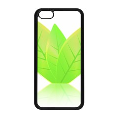 Leaves Green Nature Reflection Apple Iphone 5c Seamless Case (black)