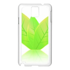 Leaves Green Nature Reflection Samsung Galaxy Note 3 N9005 Case (white) by Nexatart