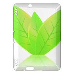 Leaves Green Nature Reflection Kindle Fire Hdx Hardshell Case by Nexatart