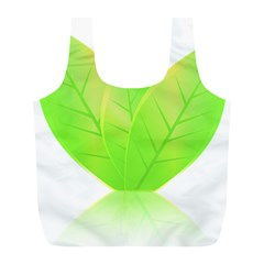 Leaves Green Nature Reflection Full Print Recycle Bags (l)  by Nexatart