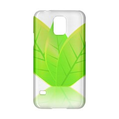 Leaves Green Nature Reflection Samsung Galaxy S5 Hardshell Case  by Nexatart