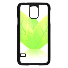 Leaves Green Nature Reflection Samsung Galaxy S5 Case (black) by Nexatart