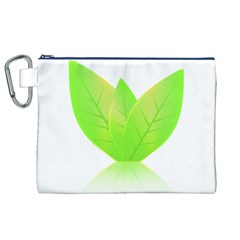 Leaves Green Nature Reflection Canvas Cosmetic Bag (xl) by Nexatart