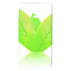Leaves Green Nature Reflection Galaxy Note 4 Back Case by Nexatart