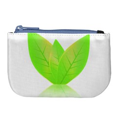 Leaves Green Nature Reflection Large Coin Purse by Nexatart