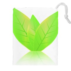 Leaves Green Nature Reflection Drawstring Pouches (xxl) by Nexatart